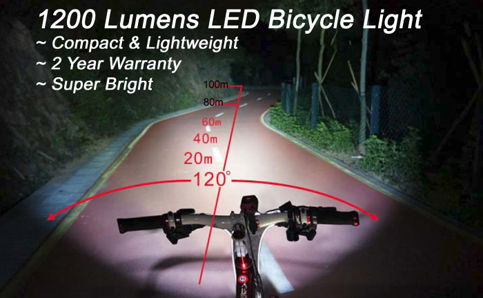 1 200 Lumens High Performance Led Bike Light Great For A