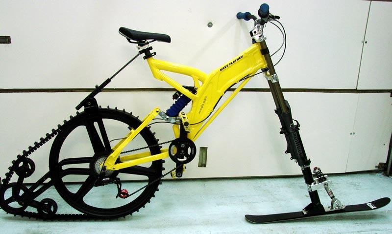 Лыжа на велосипед своими руками